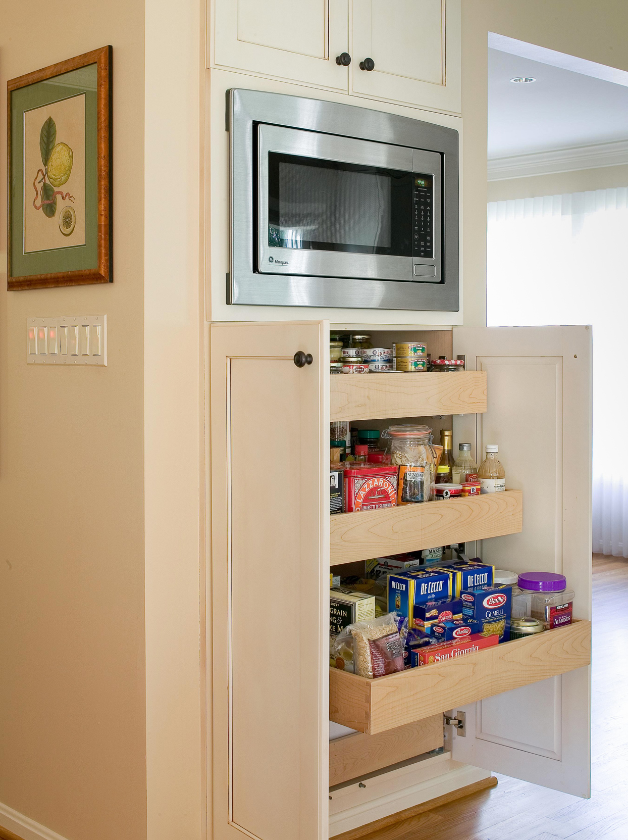 tuck your machine in a pantry